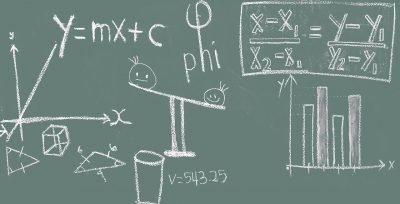math, blackboard, education